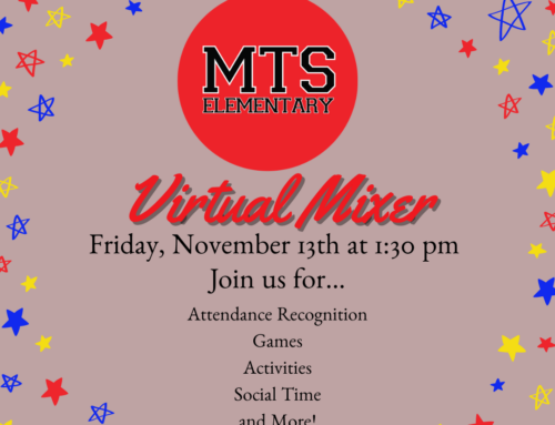 Join MTS Elementary this Friday for an all student Virtual Mixer!