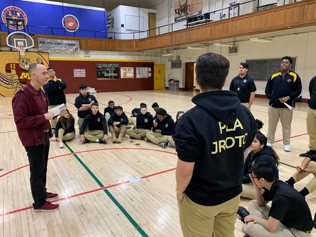 The CPLA Cadets participated in their monthly leadership training and mentoring program with the University of Minnesota ROTC program on January 17, 2019.