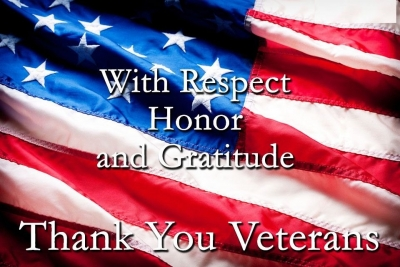HAPPY VETERANS DAY, thank you for your service!