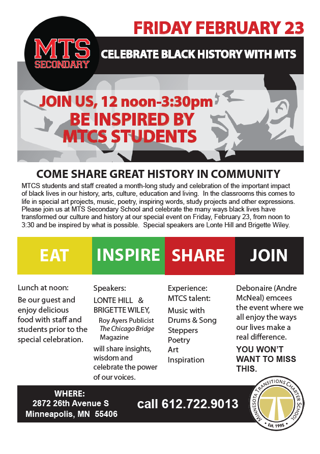 Celebrate Black History with MTCS!