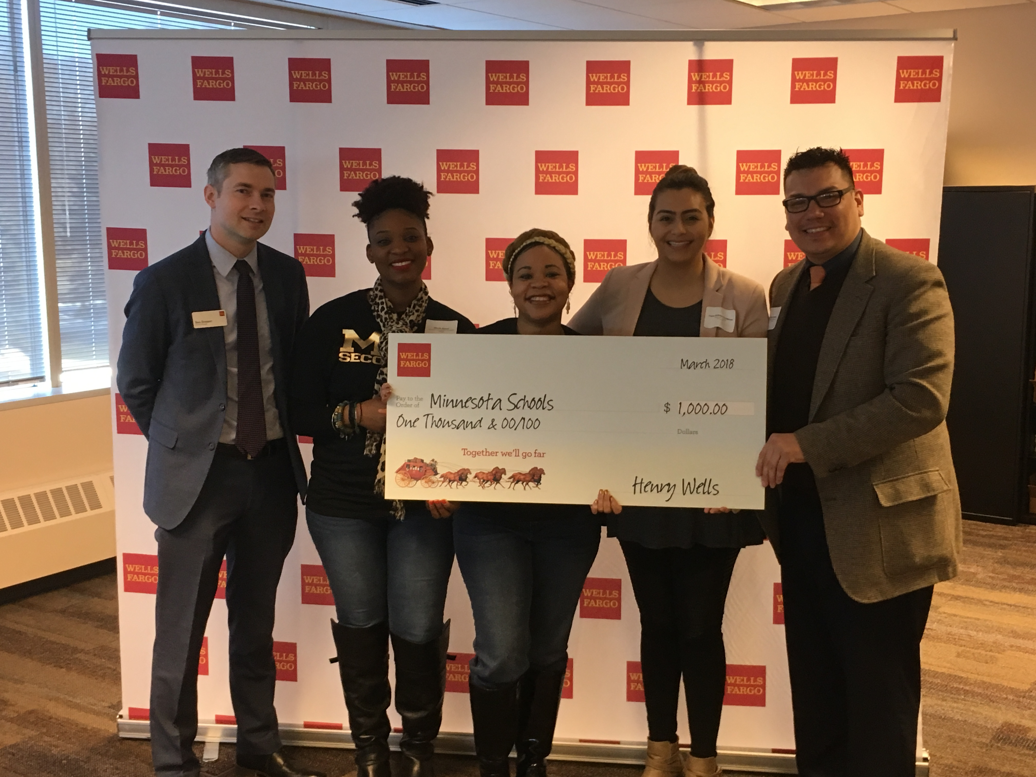 Thank you Wells Fargo for your support of Minnesota Transitions Charter School!
