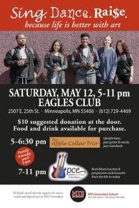 SAVE THE DATE for the MTS Secondary Arts Programs Fundraiser - live music all night!