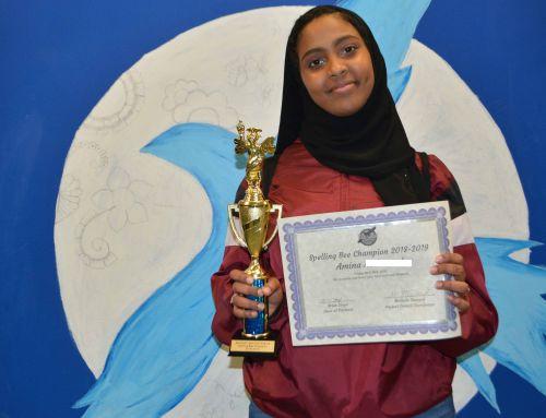 Middle School Spelling Bee winner!