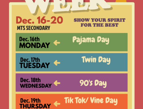 MTS Secondary, Get ready for Spirit Week